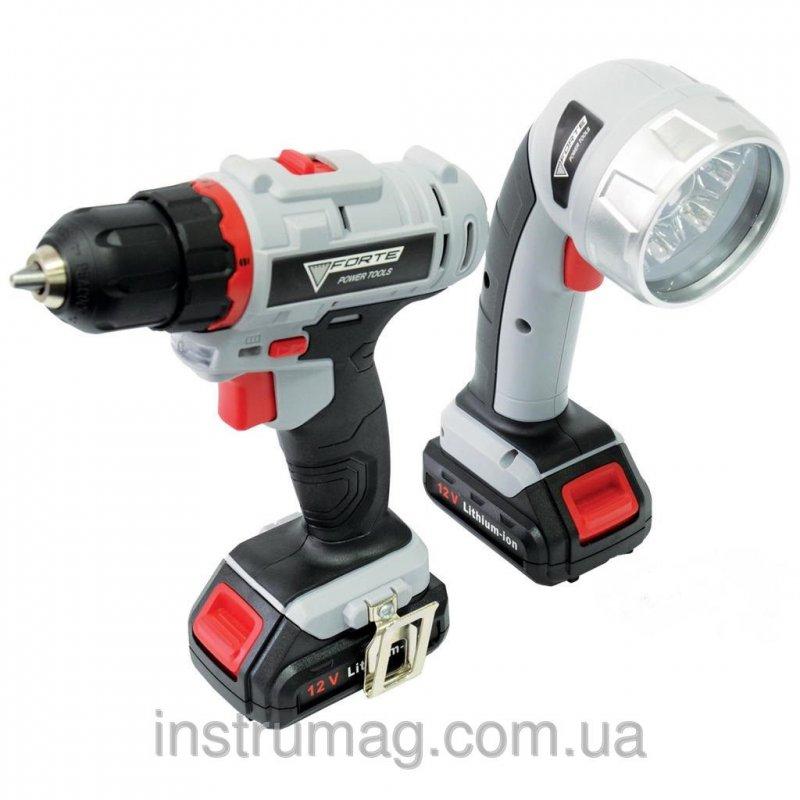 Купить Аккумуляторный шуруповерт Forte LCD 1217-2 LB2 (фонарик в комплекте)