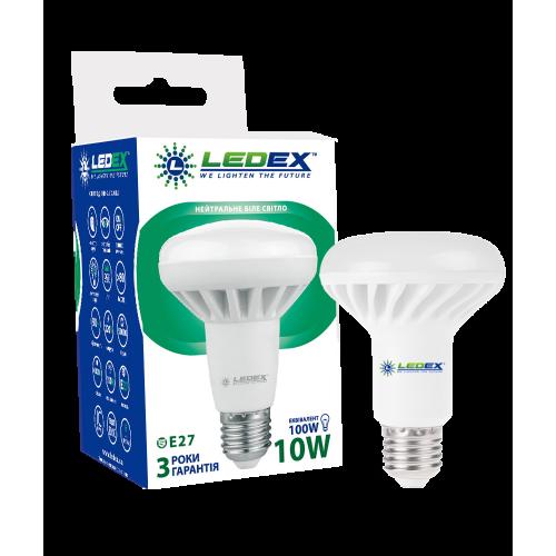 Купить Светодиодная лампа LEDEX 10W E27 R80 PREMIUM (рефлекторная)