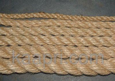 Веревка льнопеньковая, льняная, джутовая, диаметром 10мм-50мм № 3