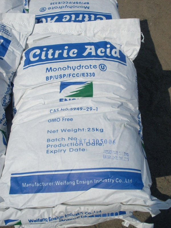 Acide citrique sacs 25 kg n ° 2