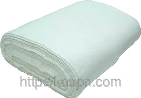 Ткань вафельная отбеленая, ширина - 50 см, длина рулона - 80 м.п.