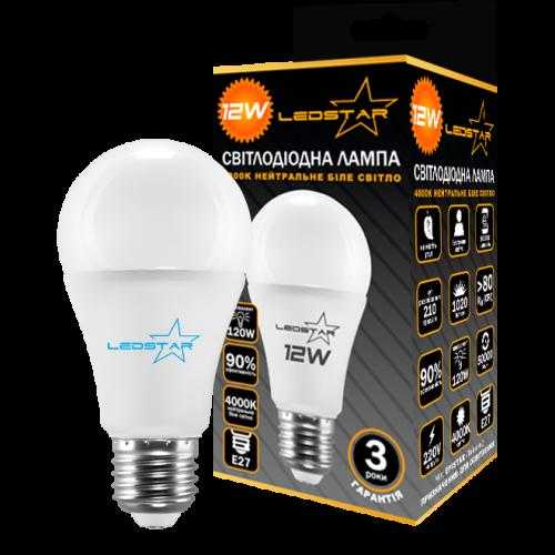 Купить Светодиодная лампочка LEDSTAR 12W E27 STANDART (груша)