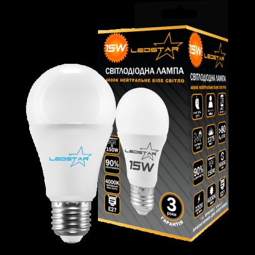 Купить Светодиодная лампочка LEDSTAR A60 15W E27 STANDART (груша)