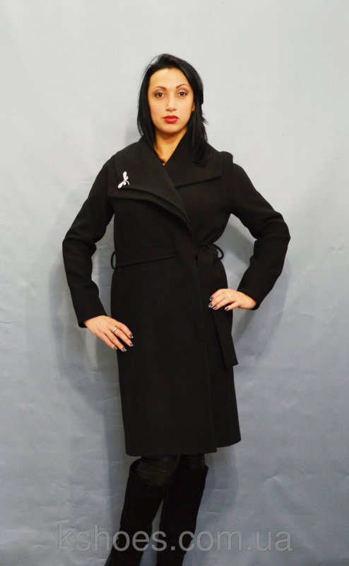 Купить Черное женское пальто Sassofono 518301
