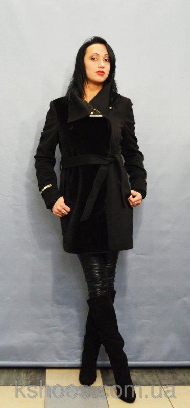 Купить Черное пальто ICON 8502