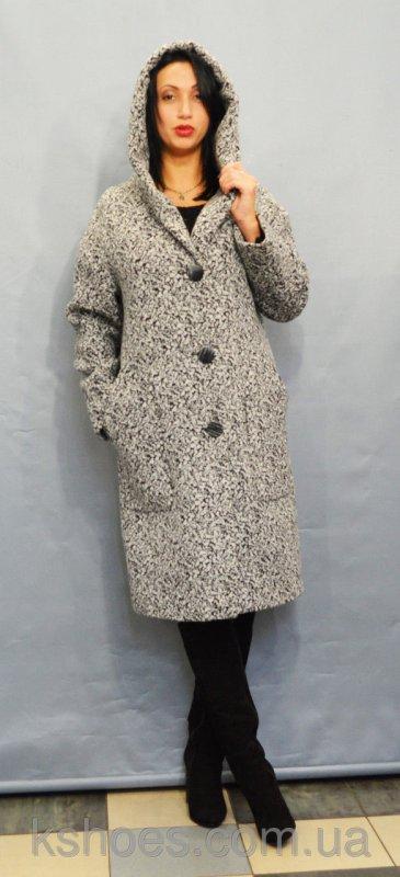 Купить Светло-серое женское пальто Icon 8549