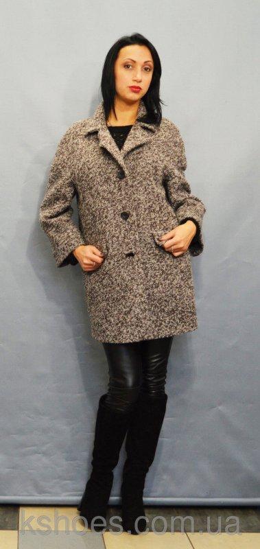 Купить Пальто женское коричневый меланж ICON 8892