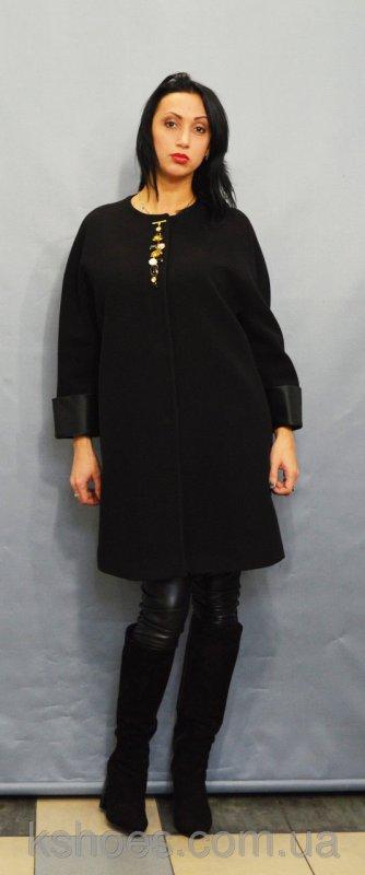 Купить Пальто батальное черное Sassofono 500301