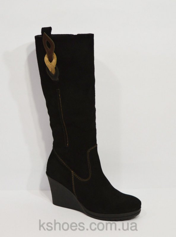 Купить Замшевые черные сапоги Sensa 1125