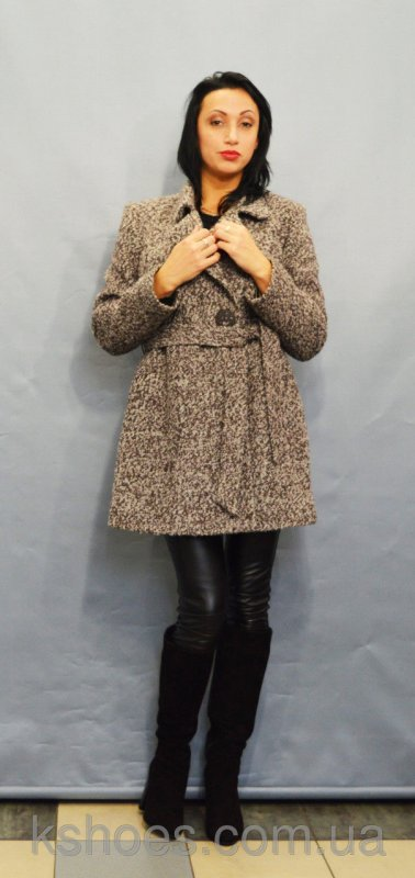 Купить Пальто коричневый меланж ICON 8896
