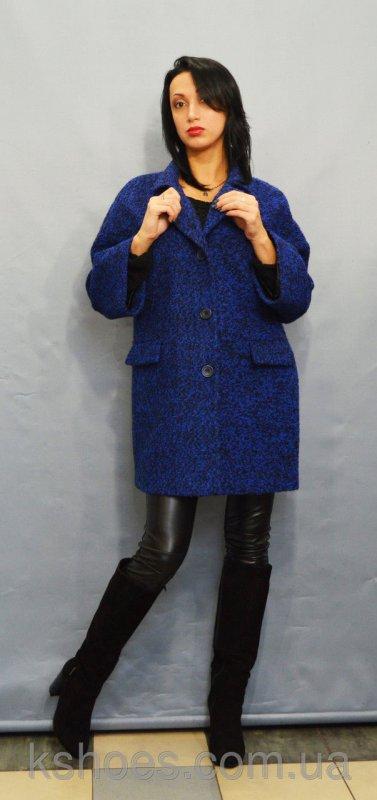 Купить Пальто женское синий мелнаж ICON 8892