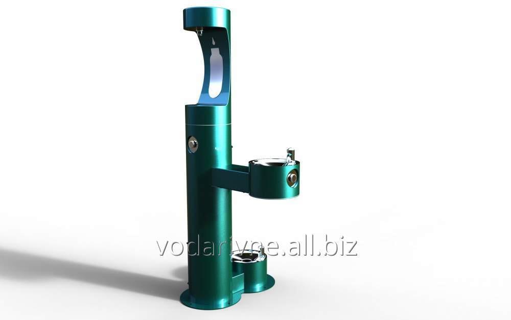 Купить Фонтанчик питьевой уличный с автоматическим набором воды TL44