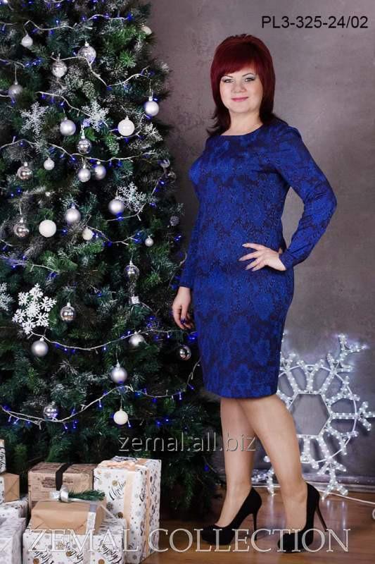 Платье жаккард PL3-325