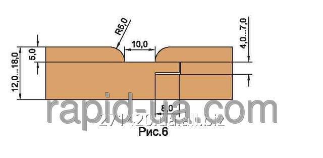 Купить Фреза для изг. обшивочной доски вагонки R=4 «ТАЙГА» В=12…22 180х60х22х4 061.14.00.00.000