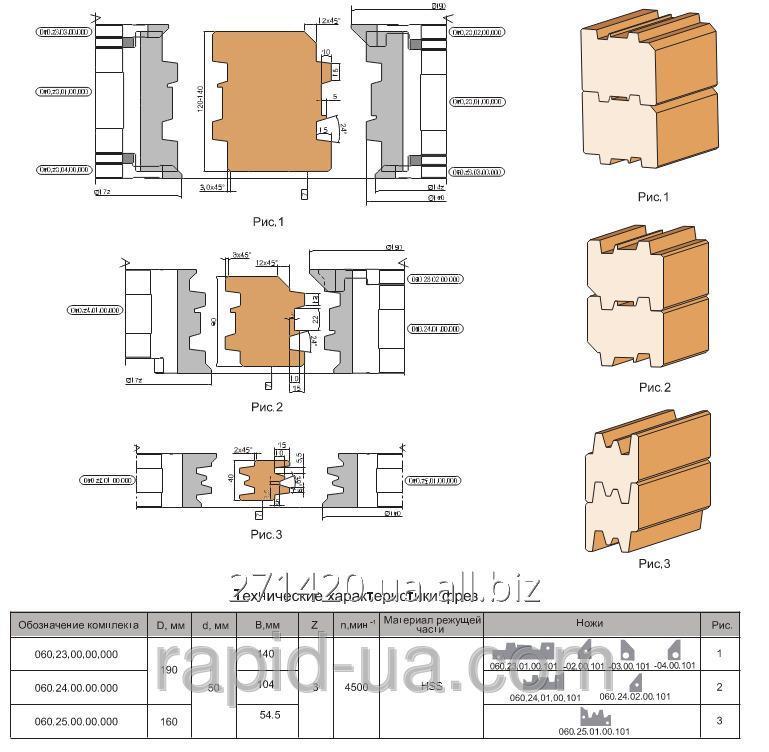 Купить Фреза для изготовления бруса дома 120…140 мм 190х50х140х3 060.23.00.00.000