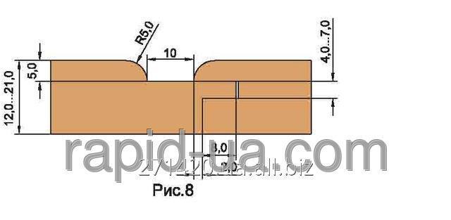 Купить Фреза для изготовления обшивочной доски вагон. R=4 «ТАЙГА» В=12…16 137х40х22х3 061.27.00.00.000