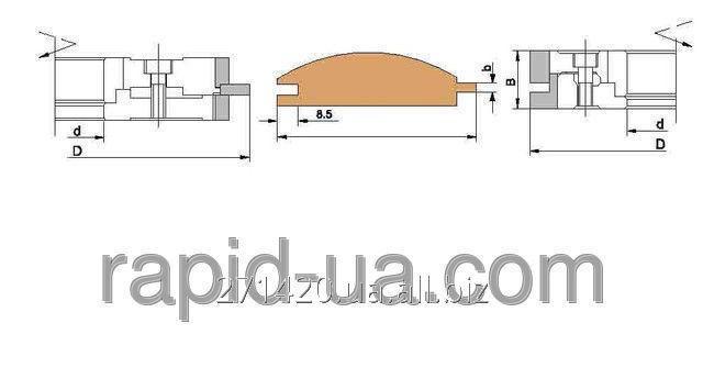 Купить Фреза для изготовления шпунта и гребеня Блок-хауса 180х60х34…37х4 061.15.00.00.000-01