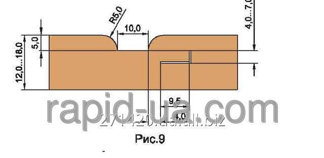 Купить Фреза для обшивочной доски вагонки R=4 «ТАЙГА» В=12…16 160х40х16х4 061.33.00.00.000