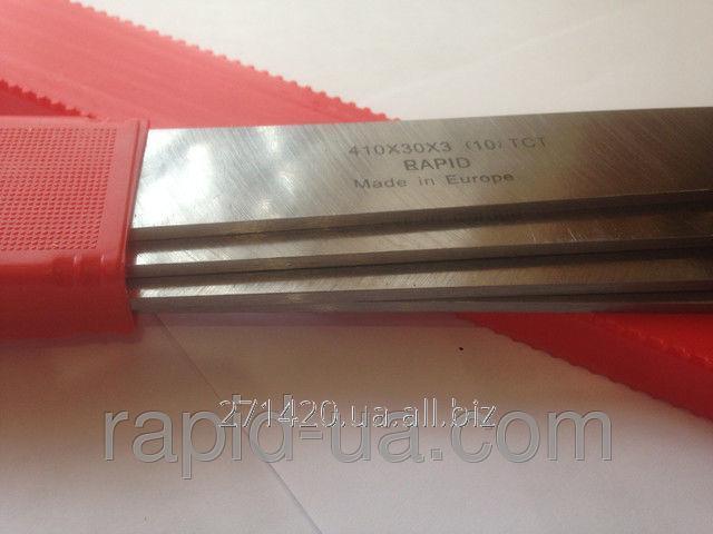 Купить Строгальный фуговальный нож с твердосплавной напайкой 410*30*3 Tigra Germany HW41030