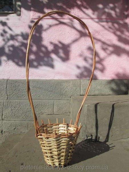 Купить Цветочник плетеный из лозы