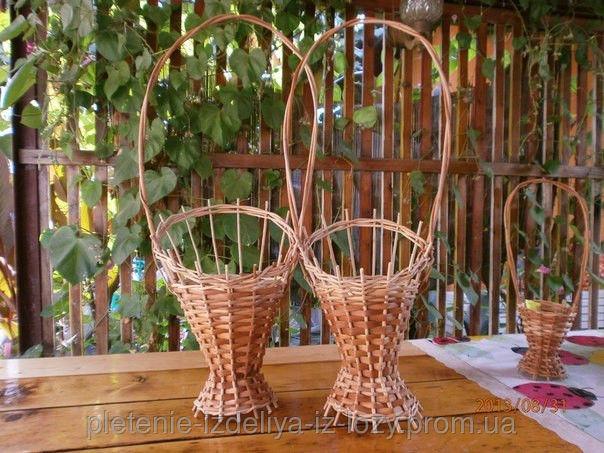 Купить Плетеный цветочник из лозы