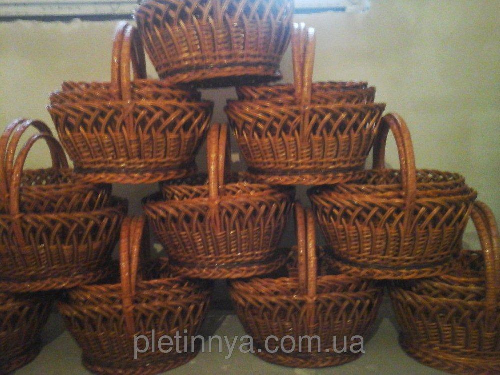 Купить Корзины пасхальные из лозы набор 4 шт
