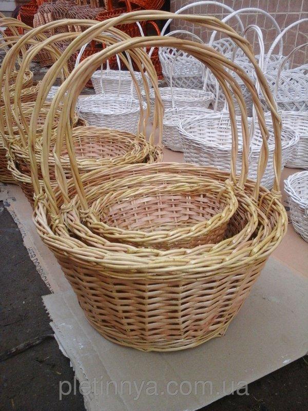 Купить Набор корзин из лозы круглые 4шт