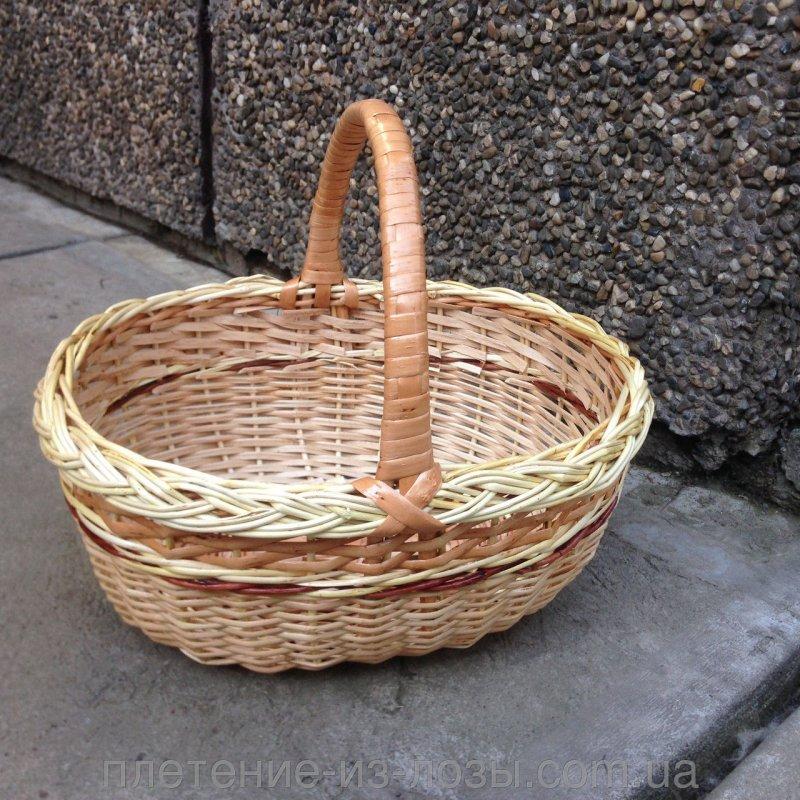 Купить Подарочная плетеная корзина из лозы