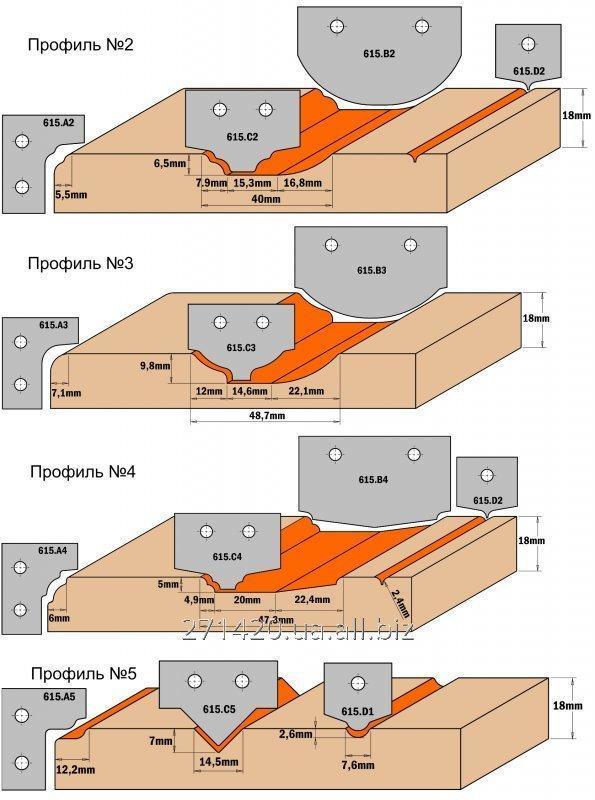 Купить Комплекты фигурных ножей CMT серии 690/691 #044 690.044