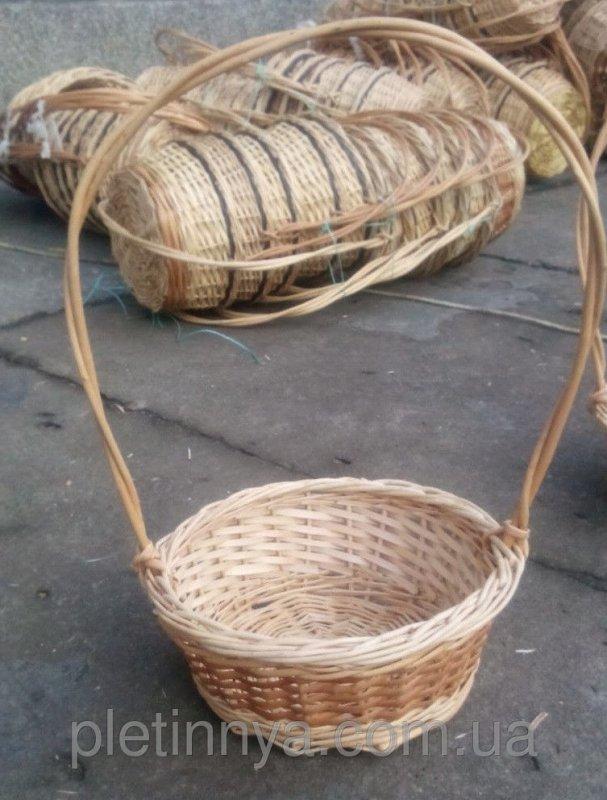 Купить Круглая корзина для подарков из лозы