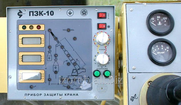 Loading capacity limiter, device of protection of the PZK-10 OGP crane