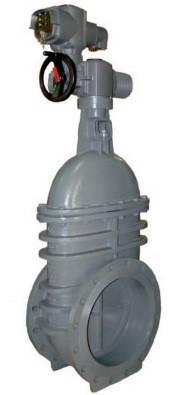 Задвижка клиновая с метал. уплотнением клина Тип 2909 JAFAR DN400 PN16 с электроприводом (кольца: нержавейка)