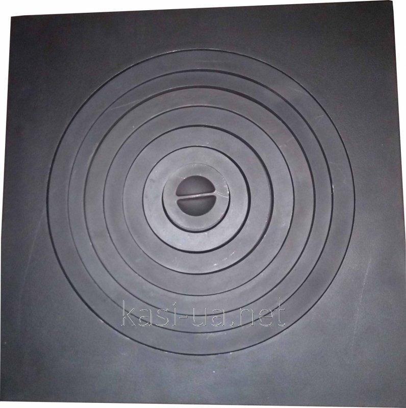 Плита чугунная печная однокомфорочная под казан ПД-1КС (550 х 550 мм.)
