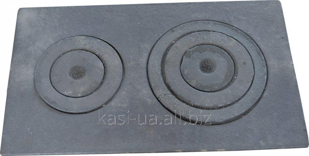 Плита чугунная печная с комфорками ПД-4 (70 х 450 мм.)