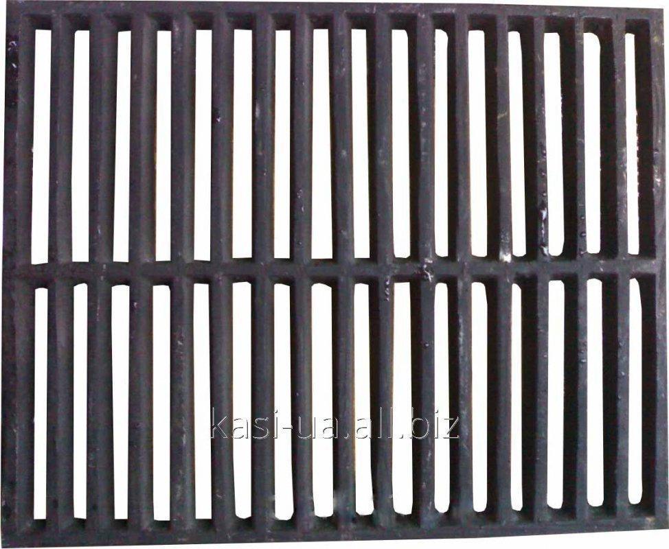 Решетка чугунная барбекю 400 х 500 мм.