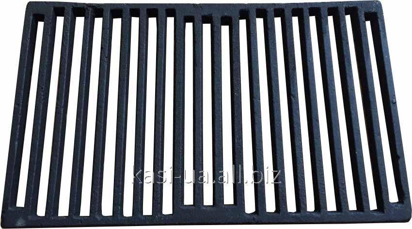 Решетка чугунная для барбекю и мангала 550 х 335 мм.