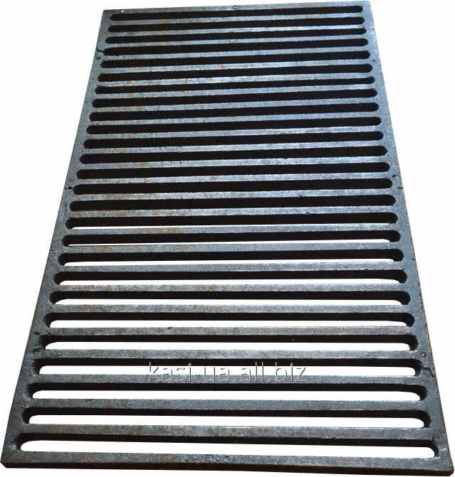 Решетка чугунная для барбекю и мангала 630 х 360 мм.