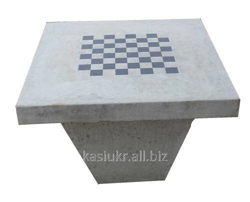Стол шахматный бетонный №2