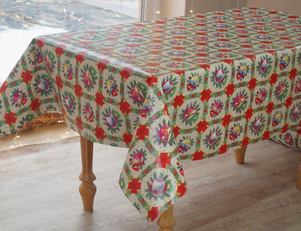 Купить Новогодняя клеенка на стол для праздничной атмосферы в вашем доме, 4427