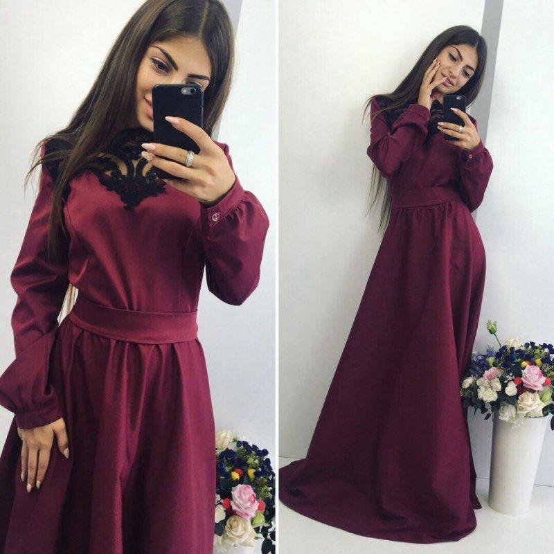 Купить Стильное молодежное платье в пол