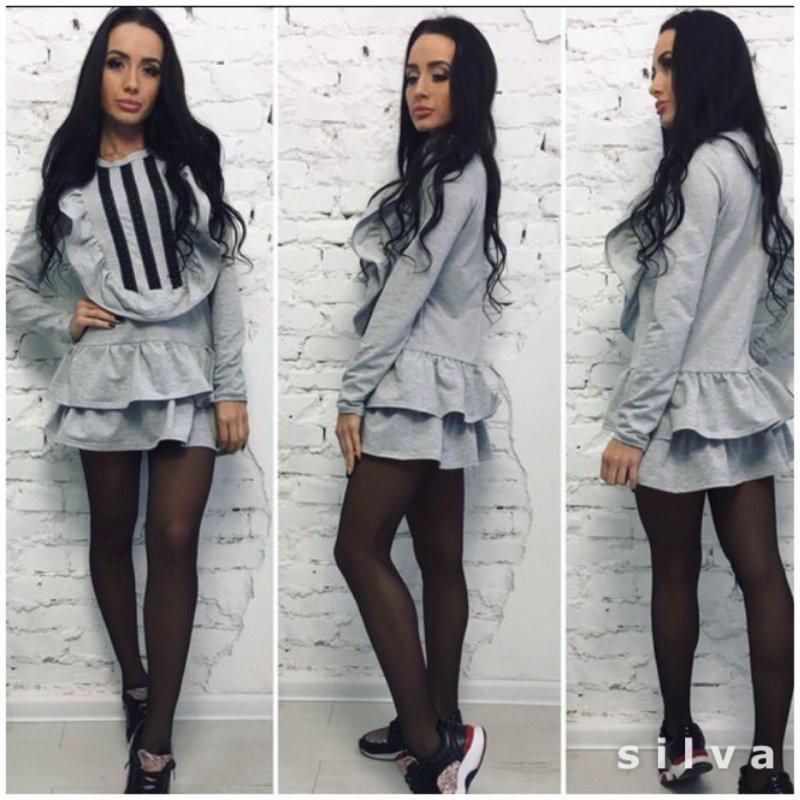 """Купить Стильное молодежное платье мини """" Рюш """" Dress Code"""