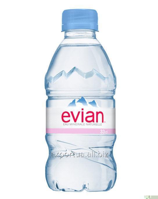 Купить Вода минеральная EVIAN (ЭВИАН) 0,33 л, без газа, ПЭТ (24 шт.).
