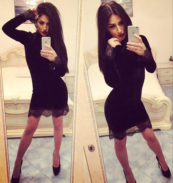 """Купить Стильное молодежное платье мини """" Бархат """" Dress Code"""