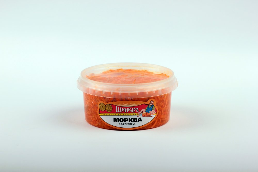 Морковь по-корейски 300, 400, пакет Дой пак, ТМ Шинкарь.