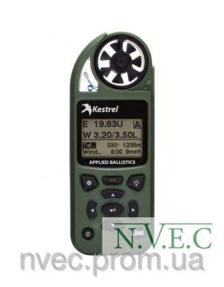 Купить Ветромер Kestrel Elite Olive LiNK (Applied Ballistic,время,скорость ветра,температура ,воздуха,воды, WP, более 14 различных пар