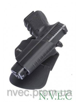 Купить Кобура Fobus для Glock-17/19, Форт-17 с поясным фиксатором, замок под большой палец