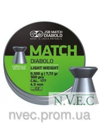 Пули пневматические JSB Match Diabolo light 4.52мм, 0.475г (500шт)