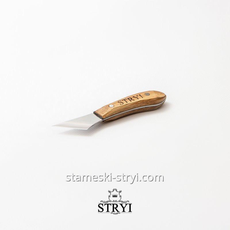 Фигурный нож-косяк STRYI для резьбы по дереву 30 градусов, ширина: 40 мм, арт.83040