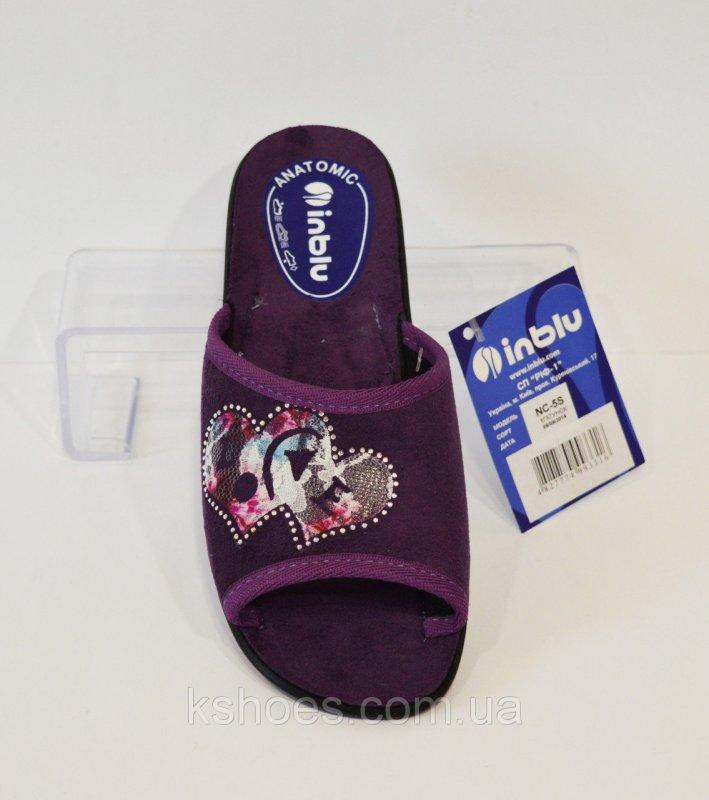 Купить Женские домашние фиолетовые тапочки Inblu