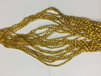 Бусы (рис) 2,5х6мм B-01 (золото)